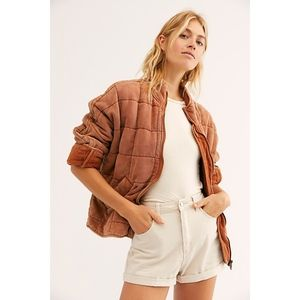 Free People Dolman Quilted Knit Jacket M NWT